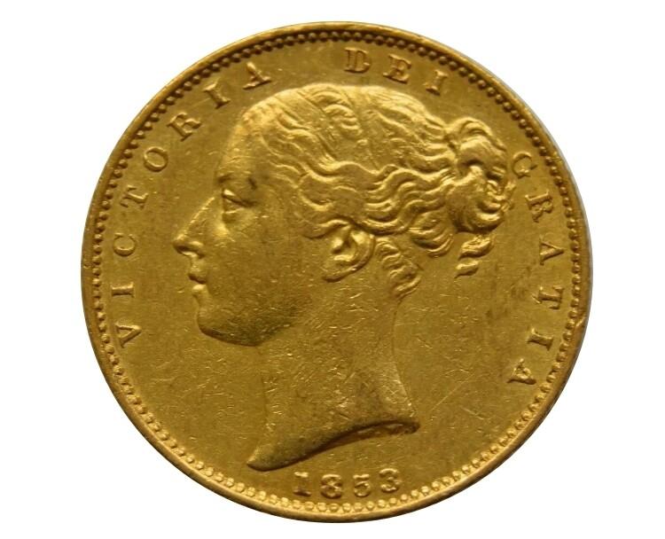 1853 Victoria Shield Sovereign