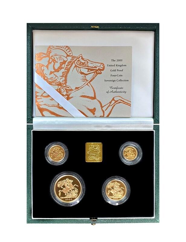 2000 Elizabeth II gold proof four coin set