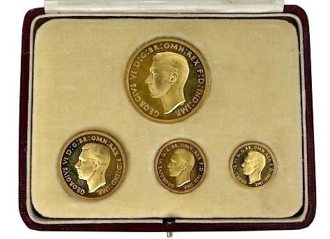 1937 George VI Gold Proof Specimen Four Coin Set