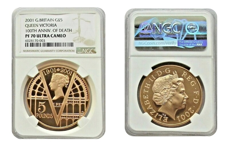 1901 2001 Victorian Anniversary Gold Proof Five Pounds