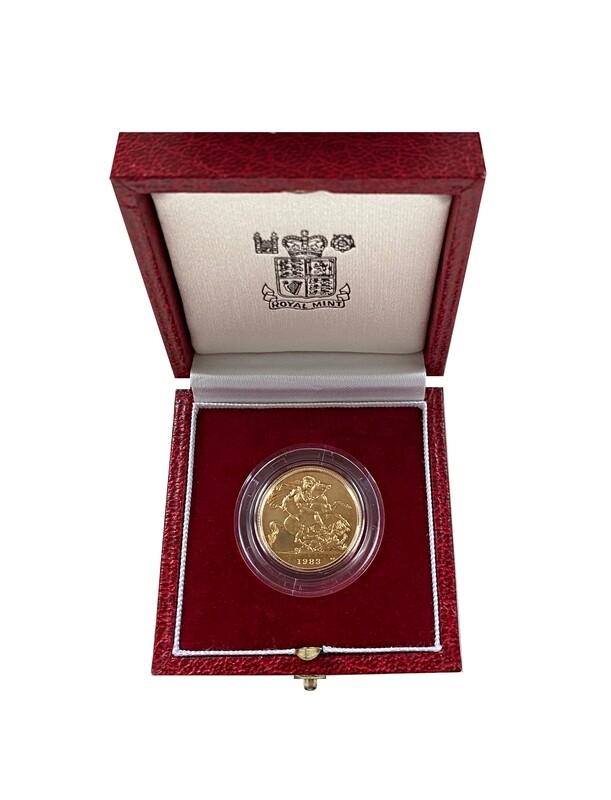 1983 Elizabeth II Gold Proof Sovereign