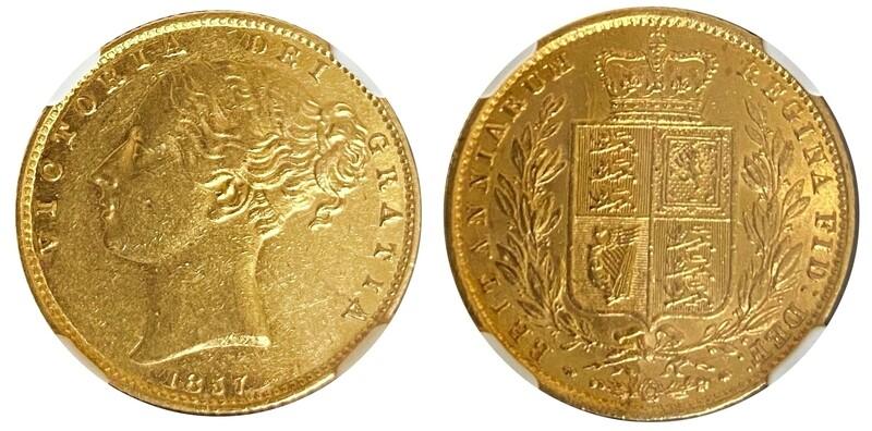 1857 Victoria Shield Sovereign