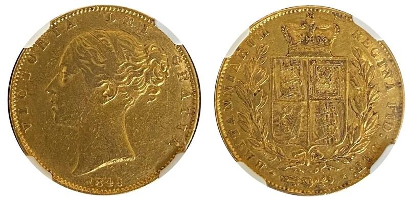 1846 Victoria Shield Sovereign