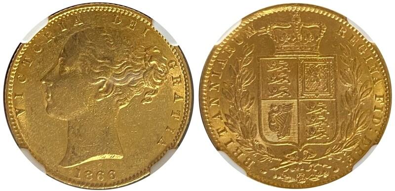 1866 Victoria Shield Sovereign