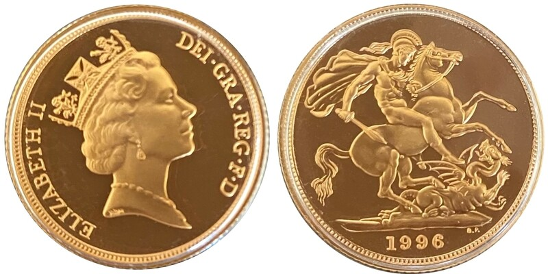 1996 Elizabeth II Gold Proof Sovereign