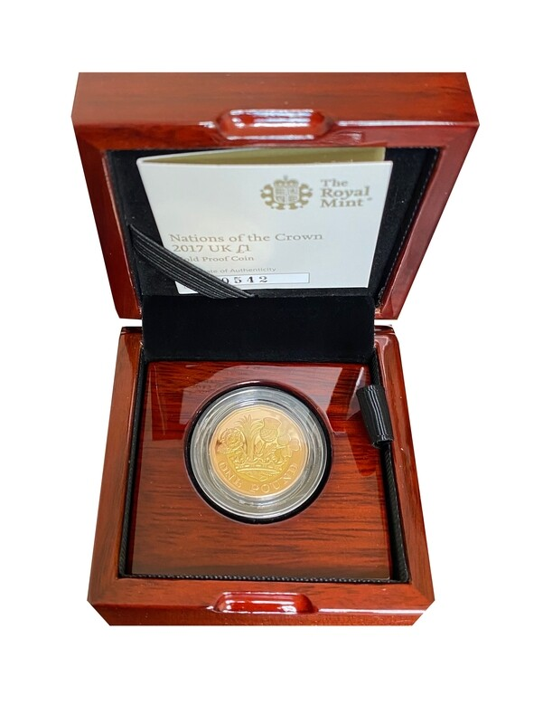 """Royal Mint """"Nations Of The Crown"""" 2017 UK Gold Proof £1"""