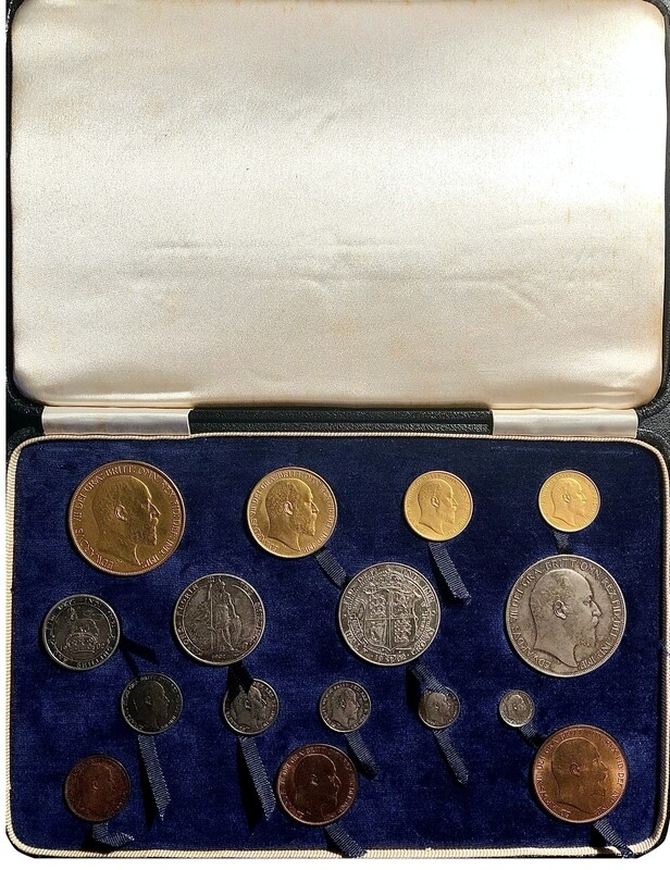 1902 King Edward VII Coronation Specimen Matt Proof Sixteen Coin Set