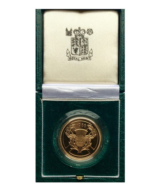 1986 Elizabeth II Gold proof Double Sovereign