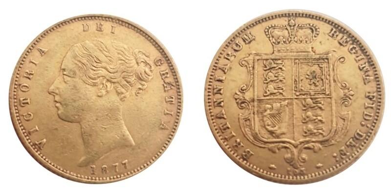 1877 Victoria Half Sovereign