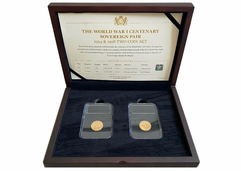 1914-1918 George V WWI Centenary Sovereign Set