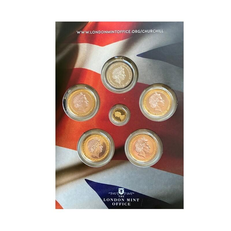 1874-1965 Churchill Commemorative Six Coin Set