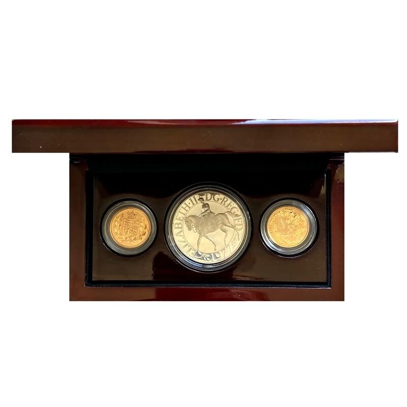 2002 - 2012 Commemorative Gold & Silver 3 coin collection