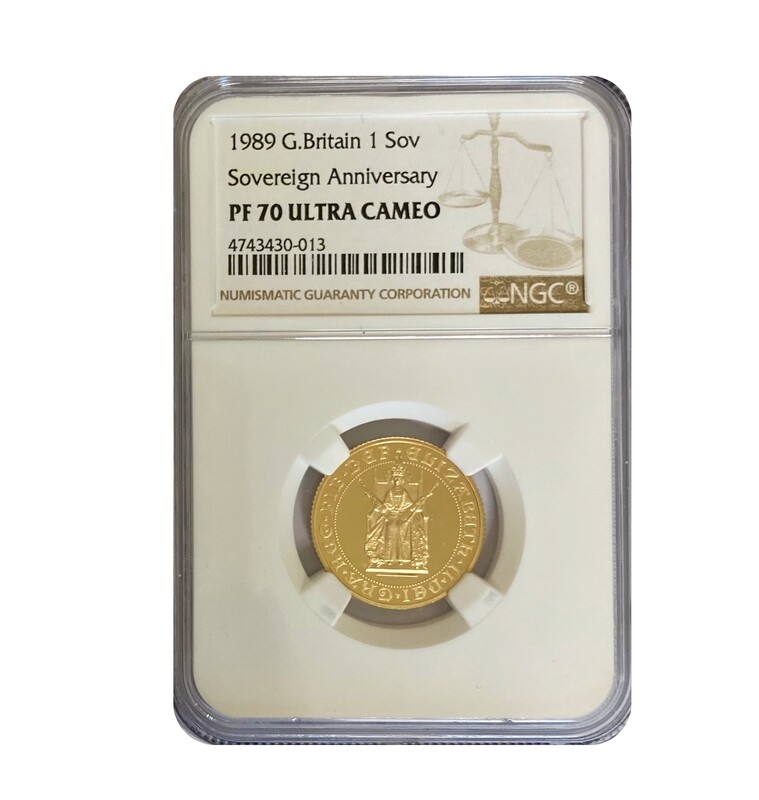 1989 500th Anniversary Gold Proof Sovereign.
