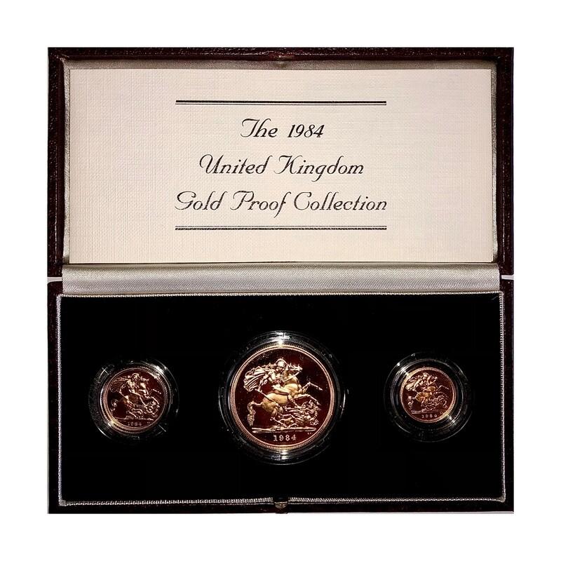 1984 Elizabeth II Gold Proof Three Coin Set