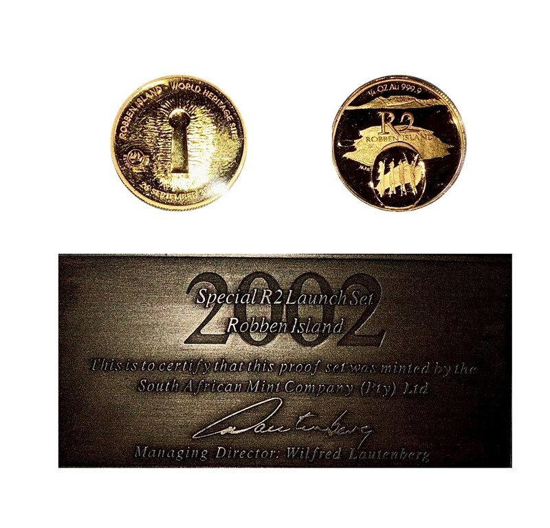 """2002 South Africa Gold Proof """"freedom set"""""""