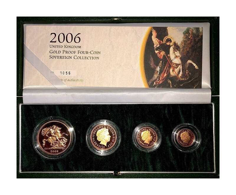 2006 Elizabeth II Gold Proof Four Coin Set