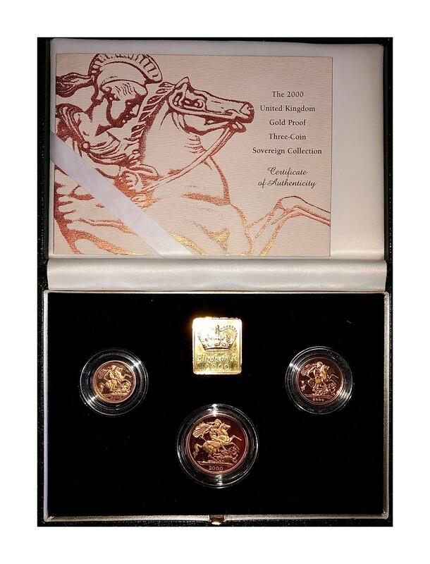 2000 Elizabeth II Gold Proof Three Coin Set