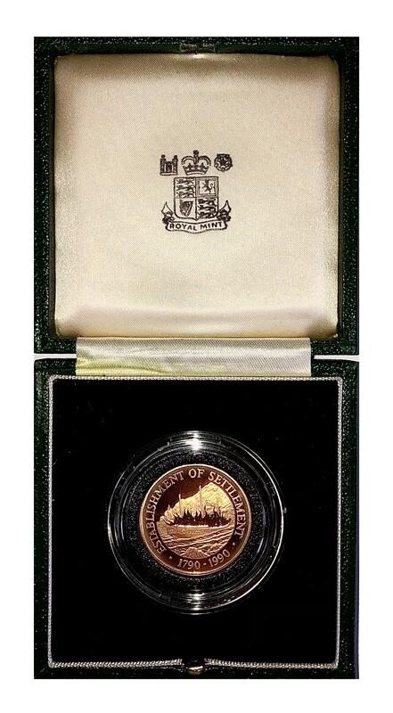 1990 Pitcairn Islands 1790-1990 Gold Proof $250