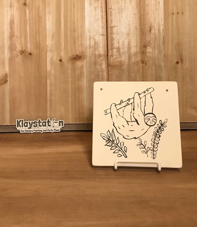 Sloth Tile Plaque