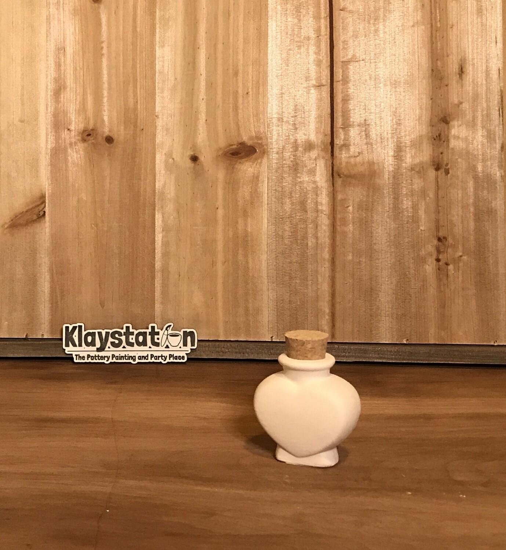 Heart Cork Jar