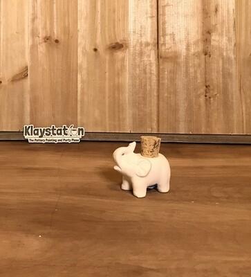 Elephant Cork Jar
