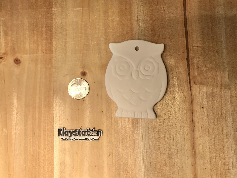 Flat Owl Ornament