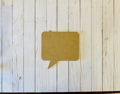 Talk Bubble MDF Board