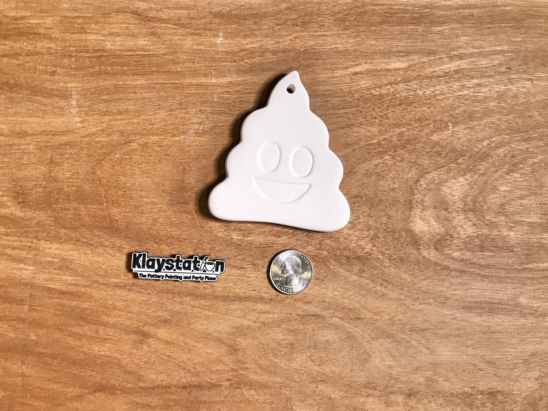 Poop Emoji Ornament