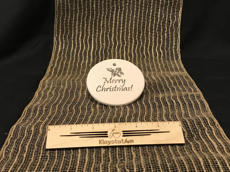 KSS Circle Merry Xmas Ornament