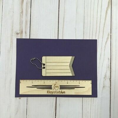 DIY Engraved Luggage Tag