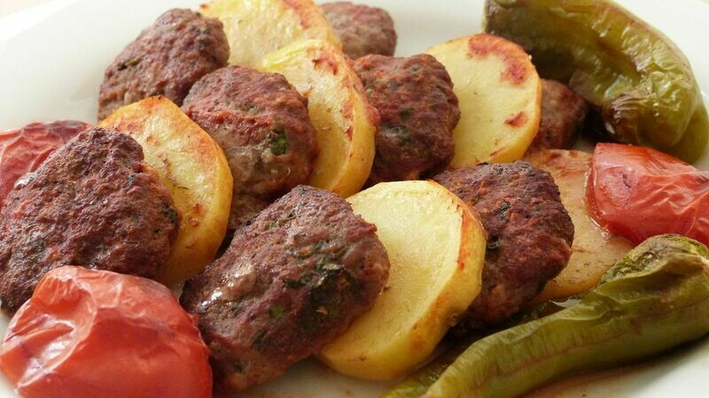 BAKED KOFTE WITH POTATOES