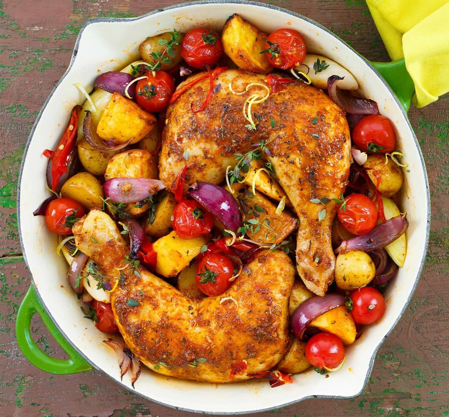 BAKED CHICKEN WITH VEGGIES