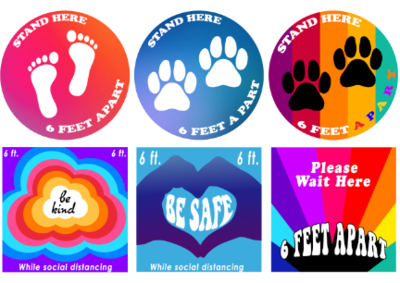 Safety Decals 6 Pack