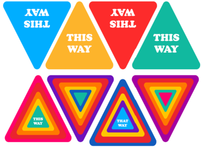 This Way/That Way Decals 6 Pack
