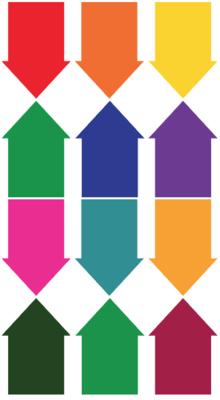 Arrow Decal Multicolor 12 Pack