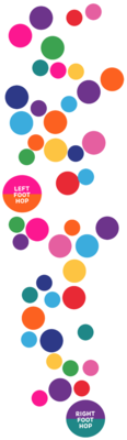 Color Pop! Sensory Path Decals 46 Pack