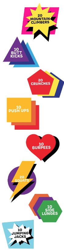 Fitness Pop! Sensory Path Decals 8 Pack