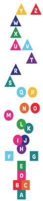 ABC Shape Sensory Path Decal 26 Pack