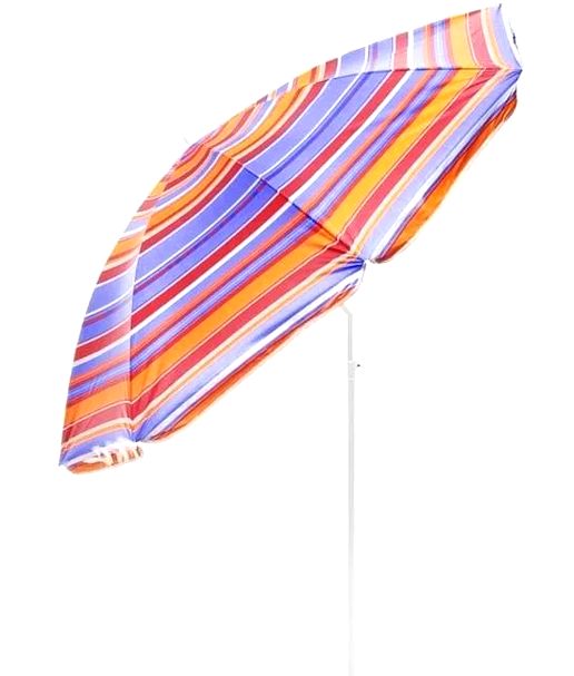 Зонт пляжний 2.2/1.95 м з нахилом і анти-UF напиленням + бур для установки зонта