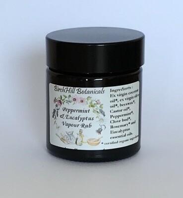Peppermint and Eucalyptus Vapour Rub