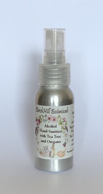 Alcohol Hand Sanitizer with Tea Tree and Oregano 60 ml