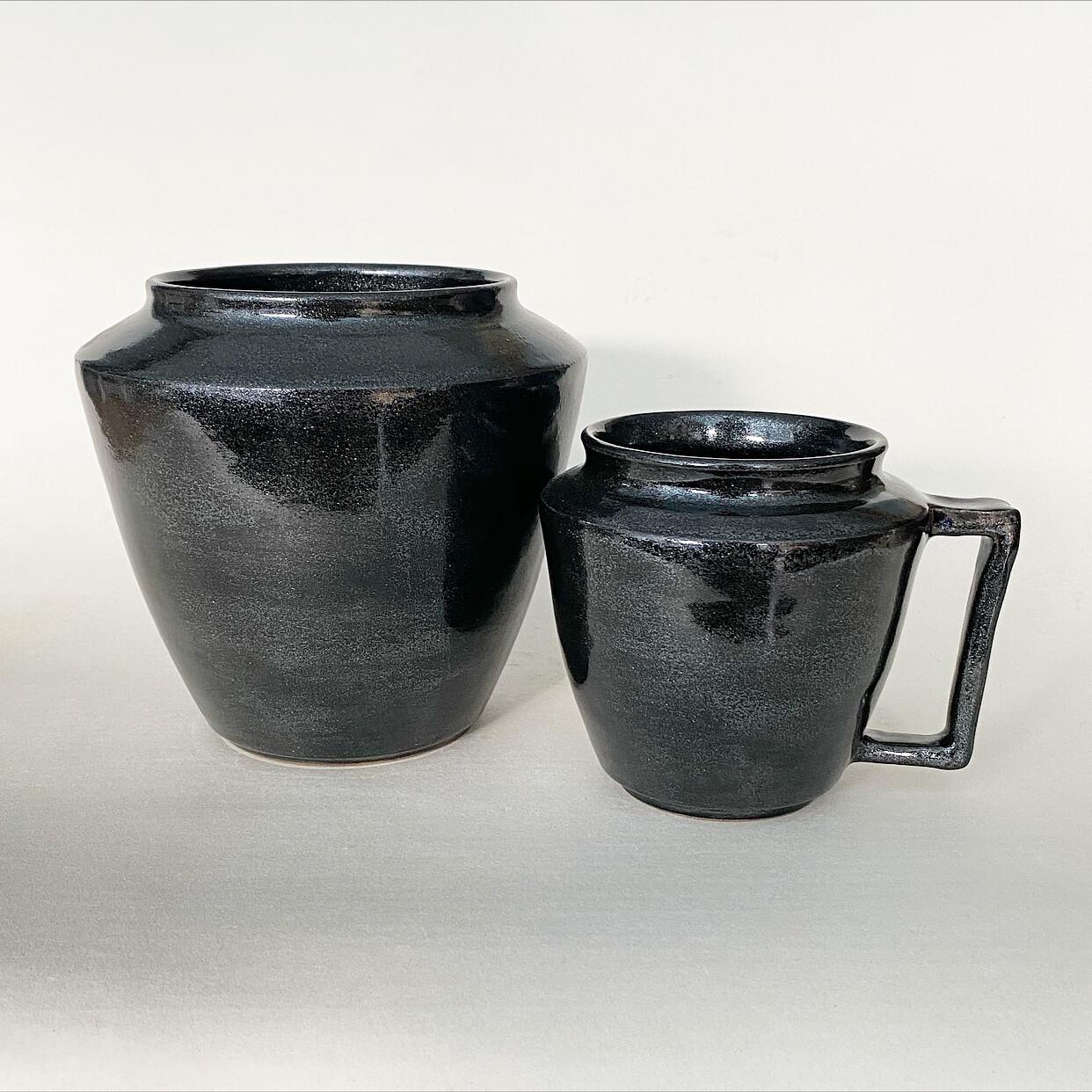 Glitterati vase and mug set