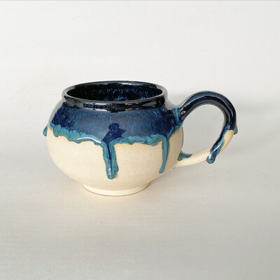 14oz Drippy Ocean combo Mug