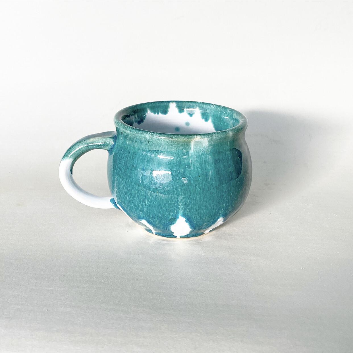 16oz Drippy Teal Mug