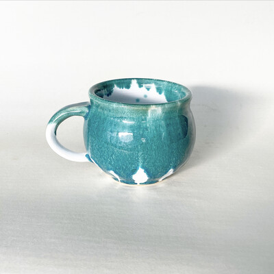16oz Drippy Teal Mug