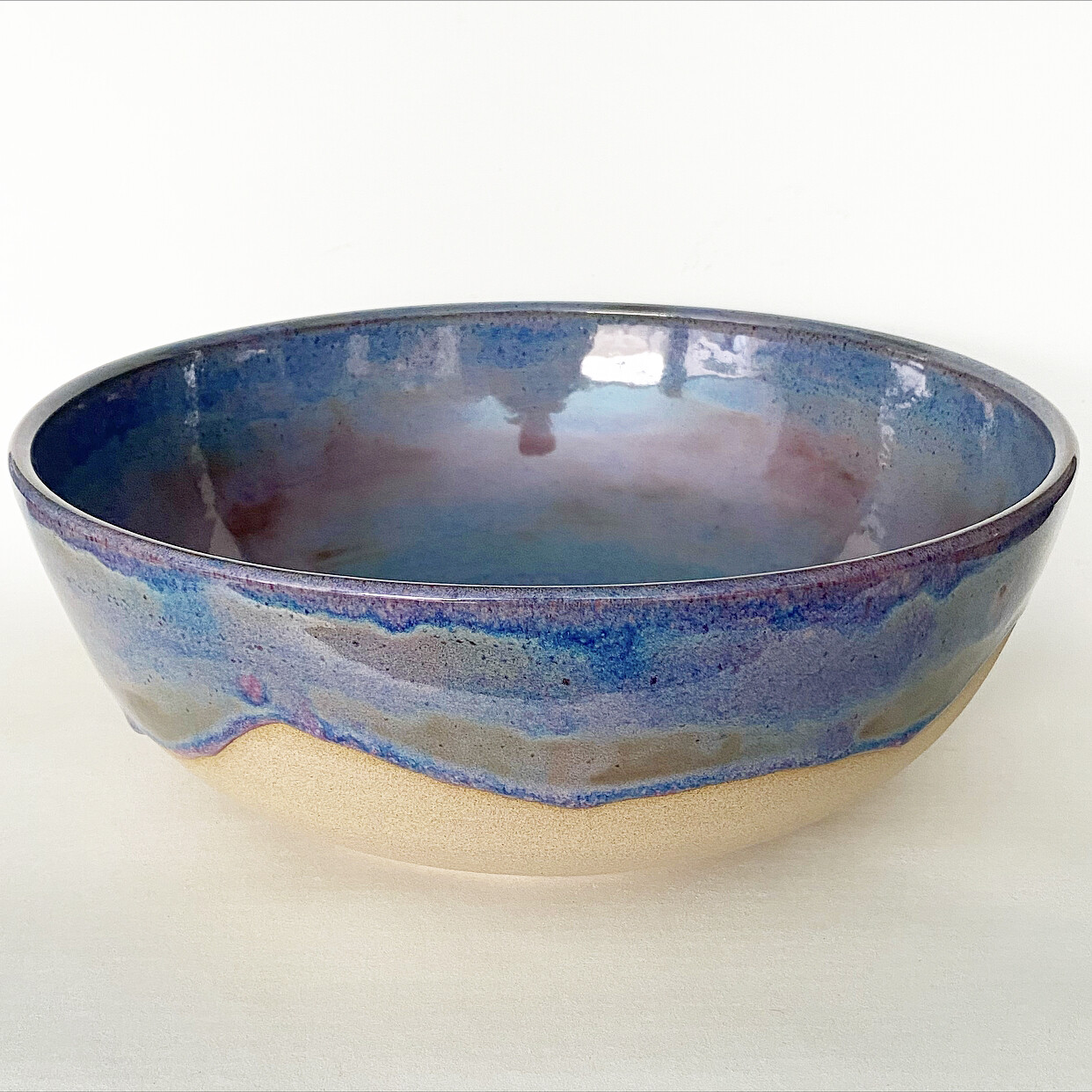 Large pink and blue Bowl