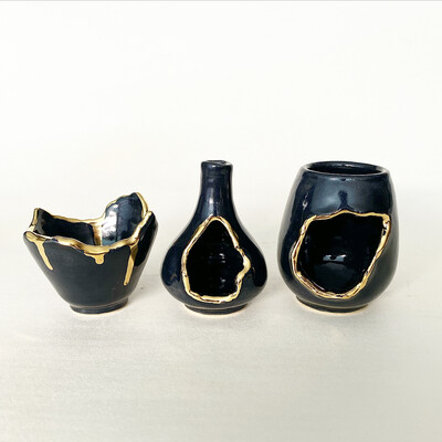 Mini Destruction vase set