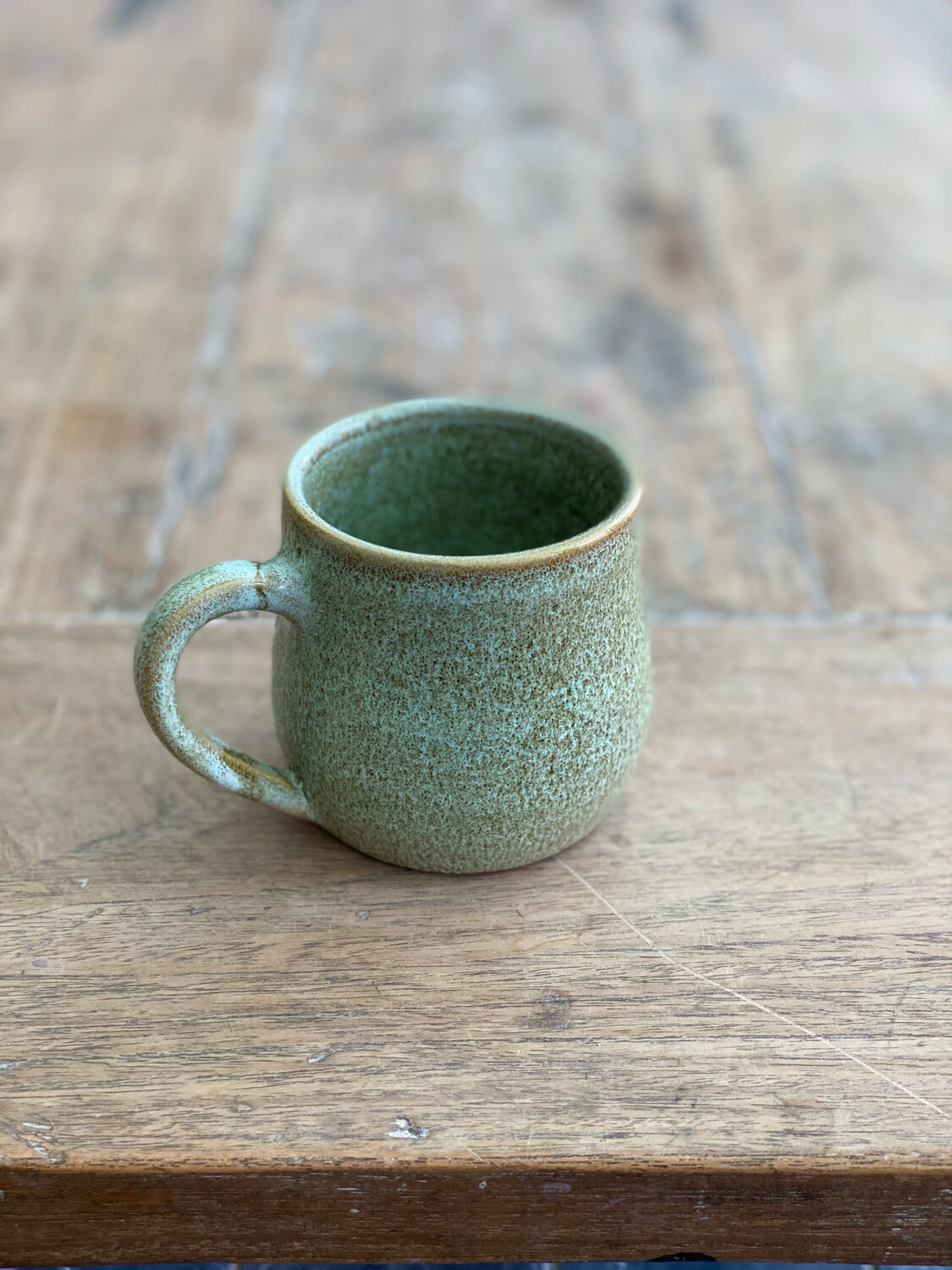 8oz Green/Brown Mug 2