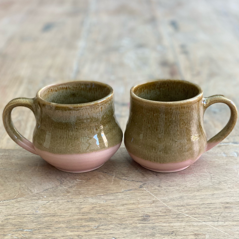 Brown and Pink Mug Set