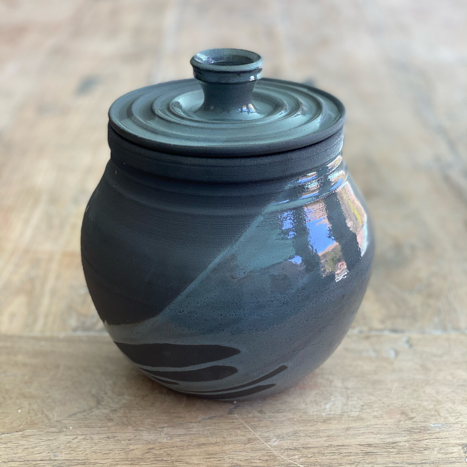 Black And Dark Grey Jar